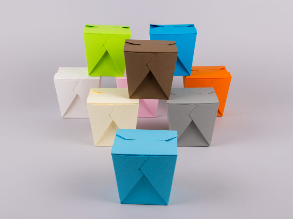 Origami take away boxes