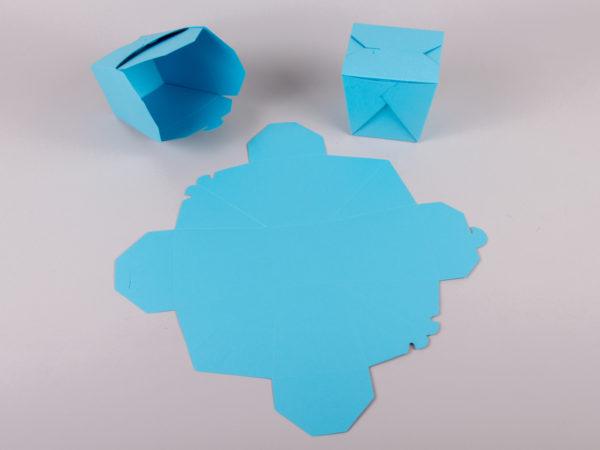 origami newman customboxes ανάπτυγμα κι έτοιμο κουτί