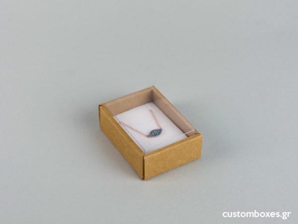 Οικολογικά κουτιά για μενταγιόν νο02 με διάφανο καπάκι koutia eco spirtokouta diafano kapaki