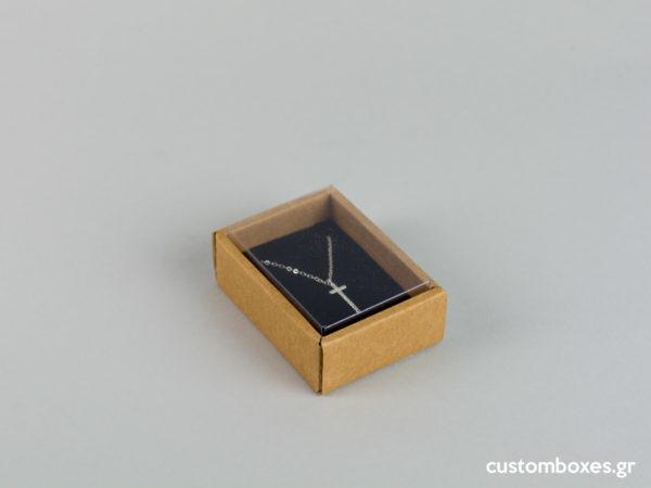 Οικολογικά κουτιά για μενταγιόν Νο2 με διάφανο καπάκι koutia eco spirtokouta diafano kapaki