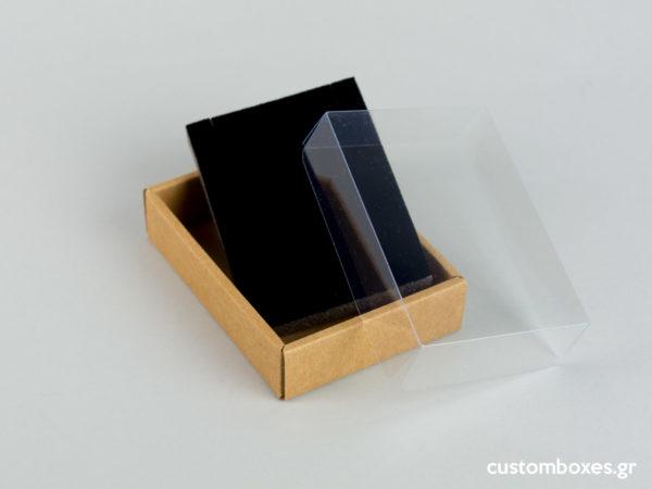 Οικολογικά κουτιά για μενταγιόν Νο7 με διάφανο καπάκι koutia eco spirtokouta diafano kapaki