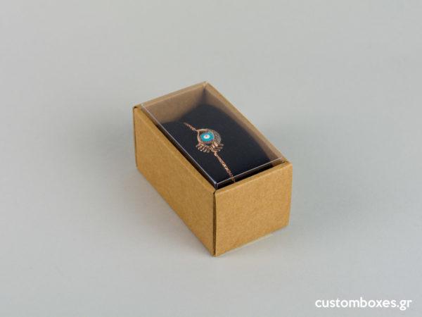 Οικολογικά κουτιά για βραχιόλι και ρολόι με διάφανο καπάκι koutia eco spirtokouta diafano kapaki