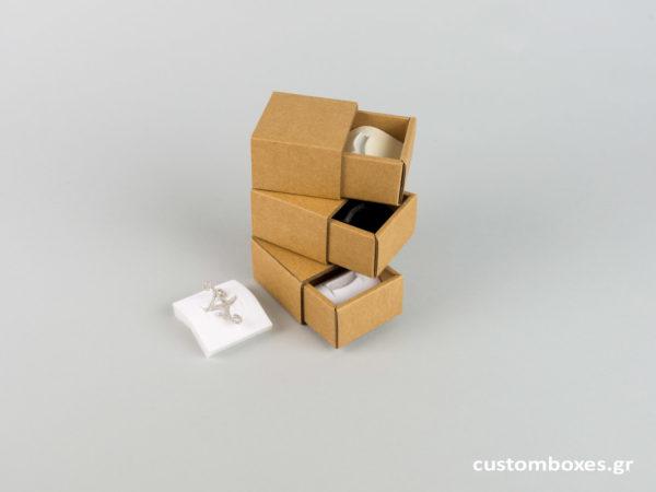 Σπιρτόκουτα με βελούδινη βάση για μικρό δαχτυλίδι spirtokouta gia kosmimata 7 sizes