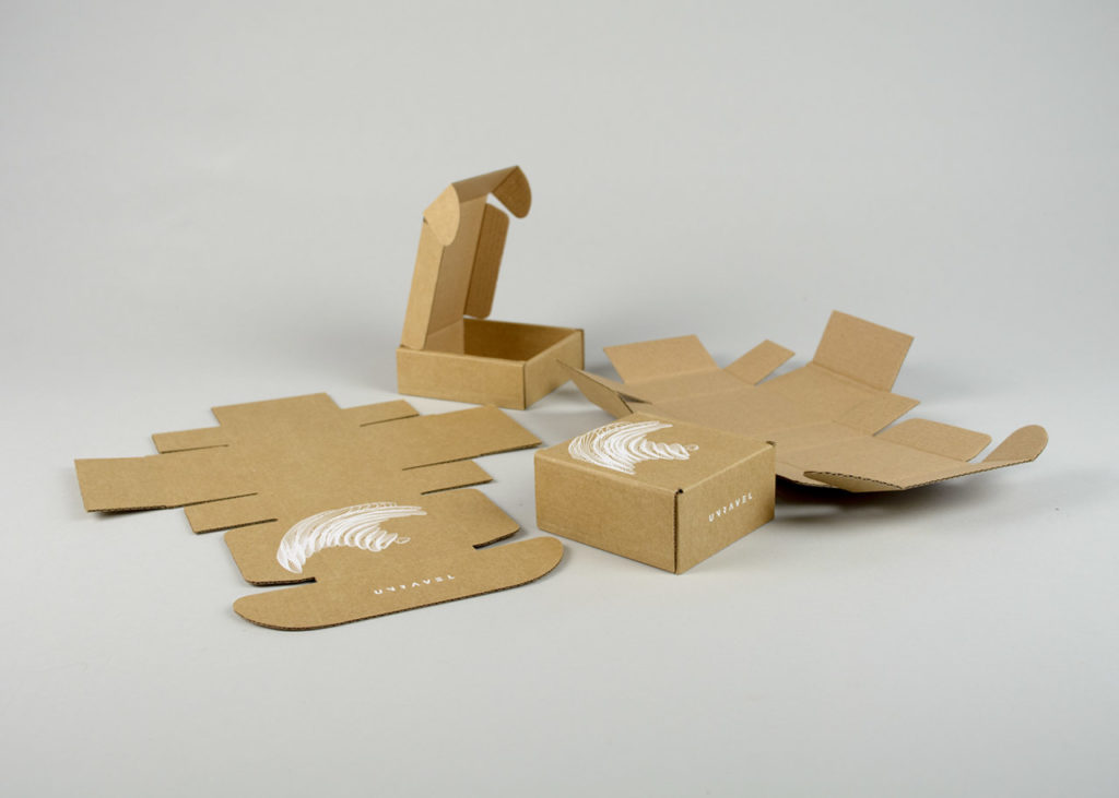 printed kraft boxes with laser cut