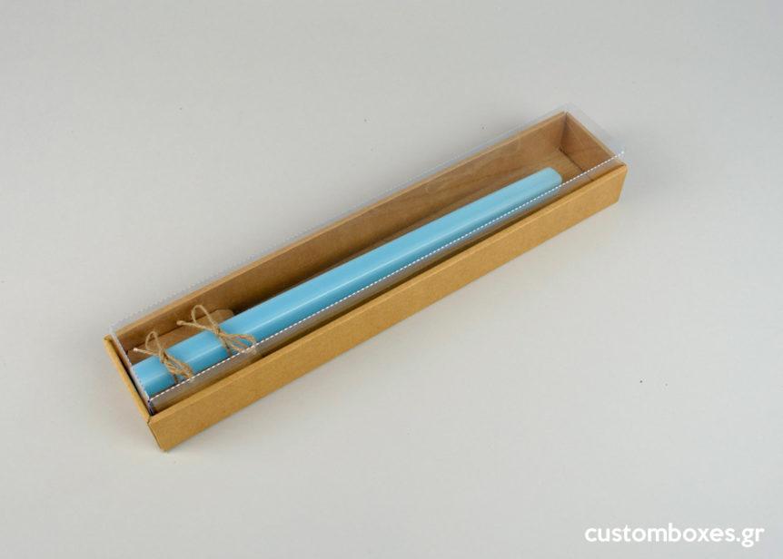Κουτιά για πασχαλινές λαμπάδες με διαφανές καπάκι
