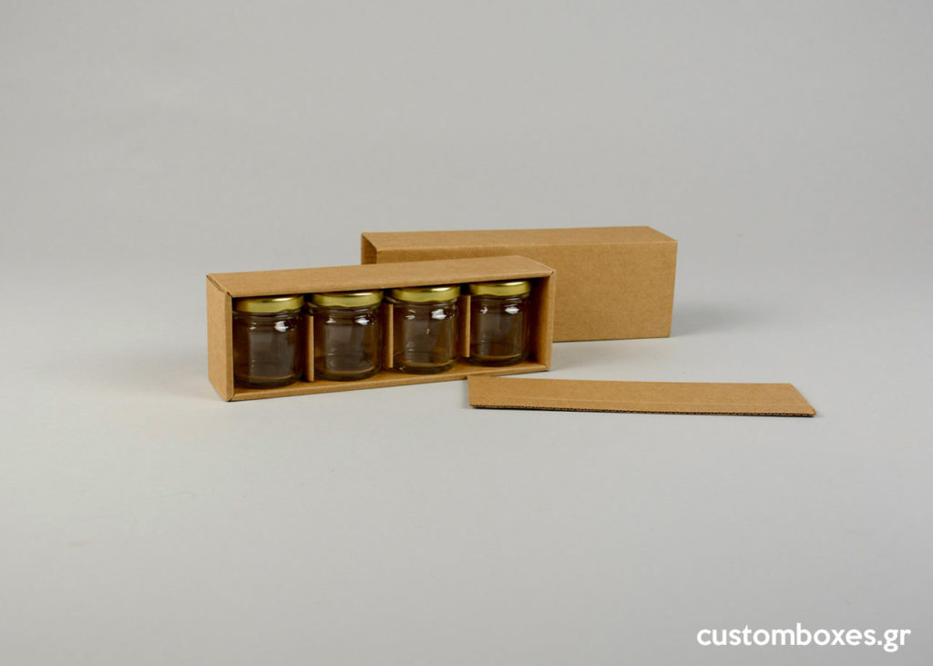 kraft box honey jars