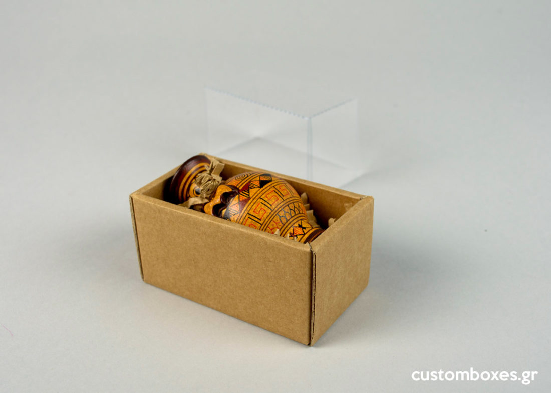 kraft gift boxes transparent lid